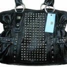 Kathy Van Zeeland Black All Star Belt Shopper Bag Purse
