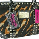 BETSEY JOHNSON BETSEYVILLE Cat-illac Natural Tote Bag
