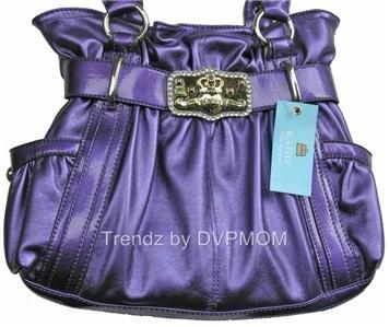 Kathy Van Zeeland Grape Purple Studio 54 Belt Shopper
