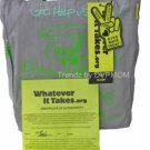 Whatever It Takes SLASH Cotton ECO Tote Bag Purse NWT