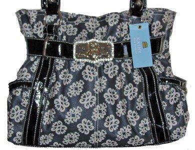 Kathy Van Zeeland Black Coated Candy Belt Shopper BAG