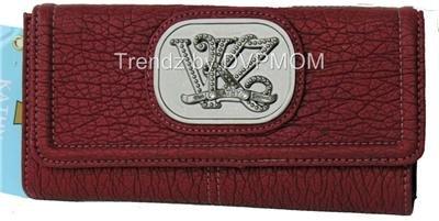 Kathy Van Zeeland HAUTE CASUAL PEPPER CHECKBOOK Wallet
