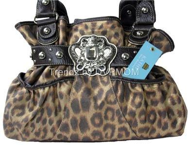 Kathy Van Zeeland Gold Leopard Rodeo Girl Belt Shopper