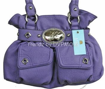 Kathy Van Zeeland GRAPE Flap Dance Belt Shopper Bag