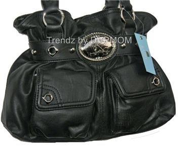 Kathy Van Zeeland BLACK Flap Dance Belt Shopper Bag