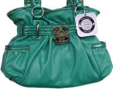 Kathy Van Zeeland Goldie Locks Belt Shopper Aruba Blue