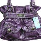 Kathy Van Zeeland PLUM LADY LOOP Belt Shopper Bag NWT
