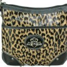 Kathy Van Zeeland X Cross Body Latte Leopard Daisy Bag