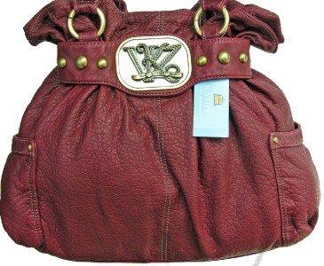 Kathy Van Zeeland BORDEAUX HAUTE CASUAL Belted Tote Bag