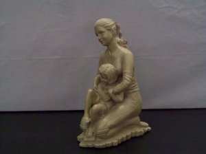 """Mother and Daughter Sculpture """"Great Mother's Day Gift"""""""
