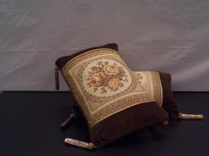 Two Soft Velvet Tapestry Cushions For Sofa Or Bedroom