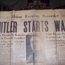 ORIGINAL ANTIQUE NEWSPAPER September 1, 1939 Edition