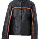 Handsewn Pebble Grain Genuine Leather Ladies Jacket