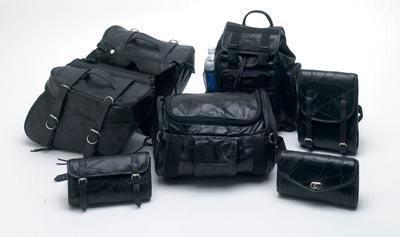 Genuine Buffalo Leather 7pc Motorcycle Luggage Set