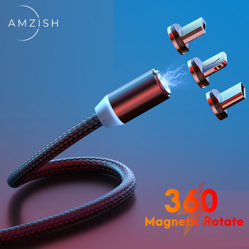 Fast Charging Magnetic Cable Micro USB Type C Cable For Iphone Xiaomi Magnet