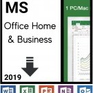 Microsoft Office 2019 Beginners Bundle Includes Office 2019 1PC/Windows/Mac