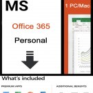 Microsoft Office 365 Personal 12-Month Subscription 1PC/Mac