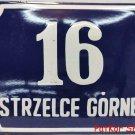 Vintage Polish Table Strzelce Górne / # J 1080