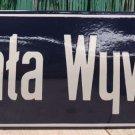 Vintage Polish Plaque with the name of the street MICHAŁA WYWIÓRSKIEGO / #...