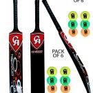 3 x CA NJ-3000 Tape Ball Fiber Cricket Bat 38mm (Pack of 3 Bats With 6 CA Balls)