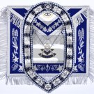 MASONIC APRON Past Master Regalia With Collar Chain & Matching Jewel
