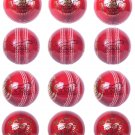 Red Ball 4piece 156g Cricket Balls Genuine Leather, Match Ball, Pack of 12