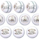 12 x White Cricket Balls, Match Ball, Premium Leather, Training & Match Ball