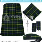 Men's Scottish 8 Yard US ARMY TARTAN KILT - Fly Plaid, Pin, Glengarry, Flashes - Size 30 to 54