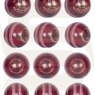 Red Ball Hand Stitched Leather Cricket Balls 5.5oz Training & Match Ball (Pack of 12)