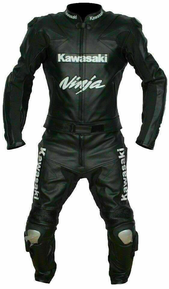 Kawasaki Customized Size Women's Motorcycle Motorbike Biker Racing Leather 1 and 2 Piece Suit
