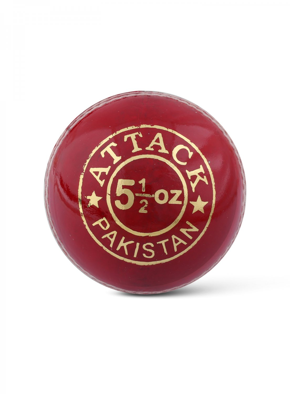 CA Attack Red Hard Leather Ball Pack of 6