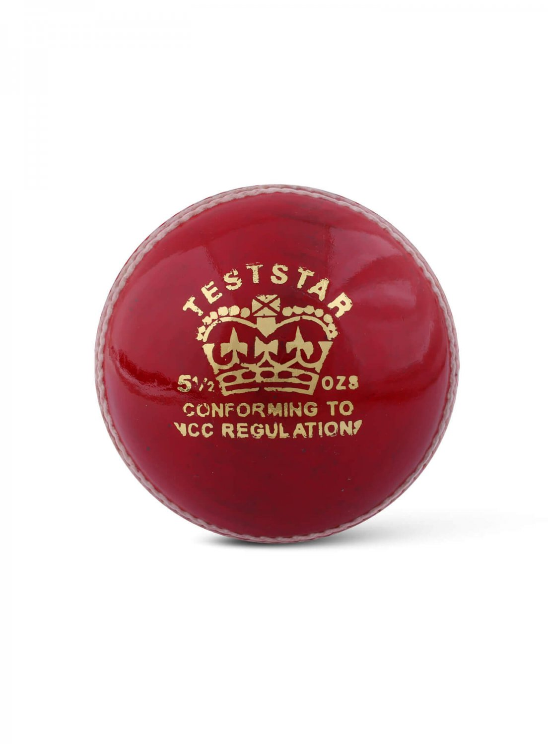 CA Test Star Red Hard Leather Ball Pack of 6