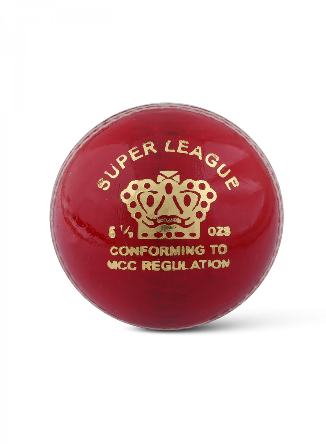 CA Super League Red Hard Leather Ball Pack of 12