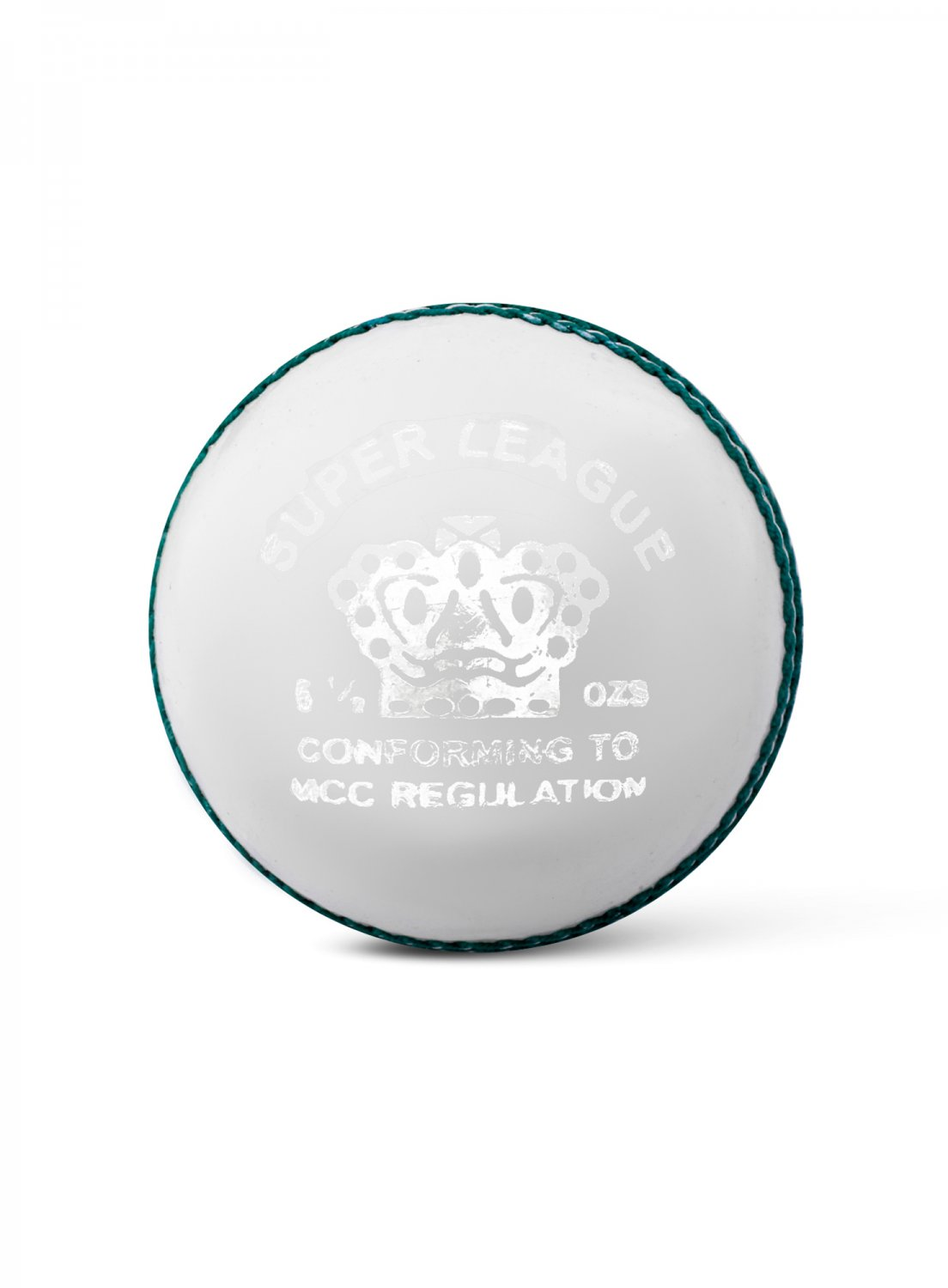 CA Super League White Hard Leather Ball Pack of 6