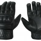 Leather Motorbike Motorcycle Gloves Touch Screen Hard knuckle Summer Glove- Size L