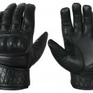 Leather Motorbike Motorcycle Gloves Touch Screen Hard knuckle Summer Glove- Size XL