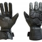 Motorbike Gloves Full Leather Gloves Motorcycle Water proof Warm Winter Gloves- Size M