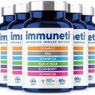 immuneti Advanced Immune Defense, 6-in-1 Powerful Blend of Vitamin C, Vitamin D3,Elderberries, 5Pack
