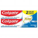 2Pack Colgate Total Whitening Toothpaste with Stannous Fluoride,9.6oz,UPC 035000463920 696464259742