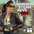 x10 Random Steam Keys Video Game PC Global Fast Delivery + Bonus [Region-Free]