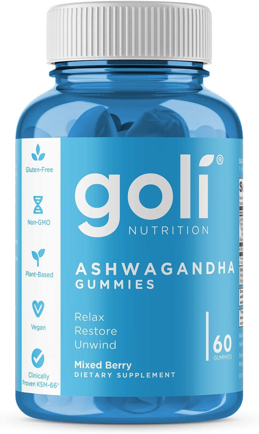 ASHWA Vitamin Gummy by Goli Nutrition - Ashwagandha and Vitamin D Gummies 60 Count
