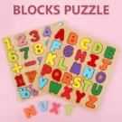 2 PCS Kids Wooden Board 26 Alphabet 20 Number Puzzle Baby Colorful Letter  Educational  Toy