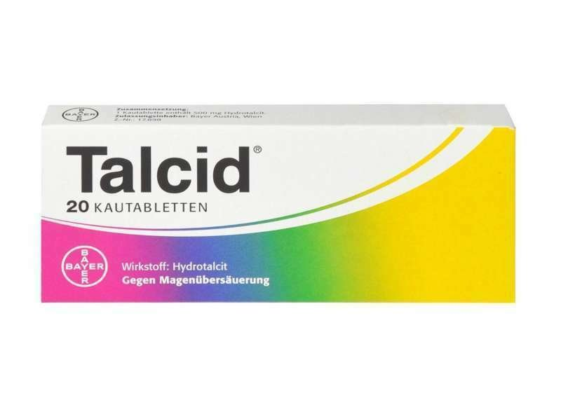 Talcid 500 mg  20 chewable tablets - Bayer