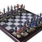 COLLECTIBLE CIVIL WAR CHESS SET METAL WOOD BOARD pieces