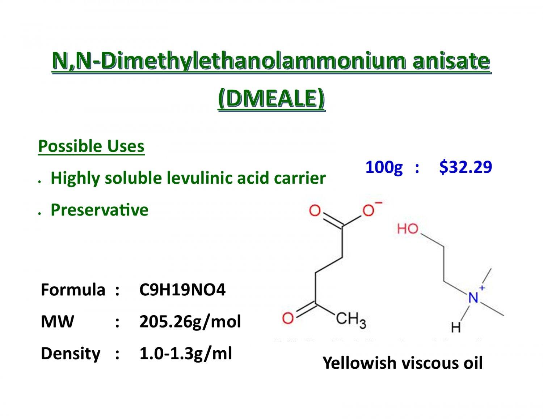 100g N,N-Dimethylaminoethanol levulinate salt (DMAE levulinate)