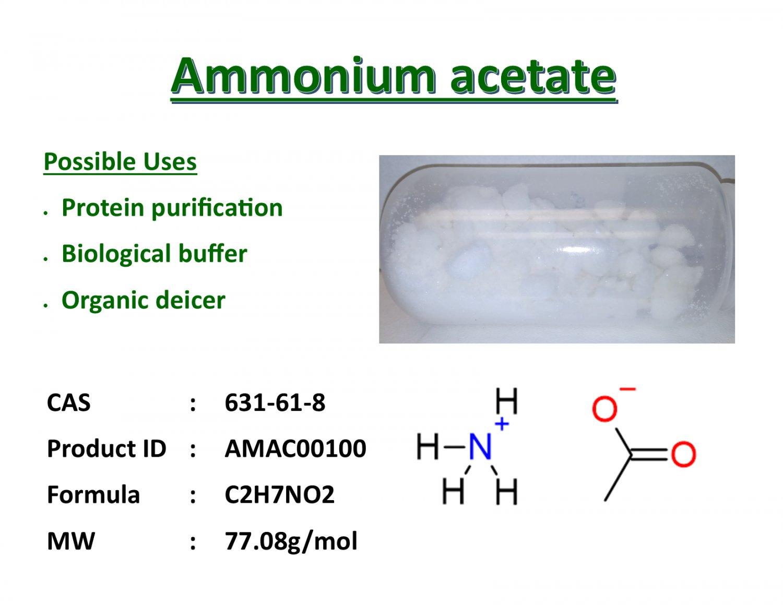 100g Ammonium acetate