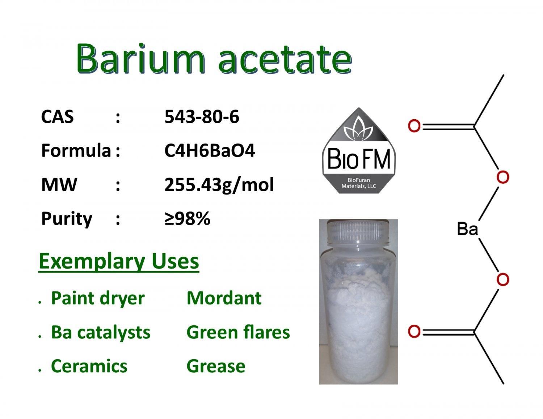 100g Barium acetate