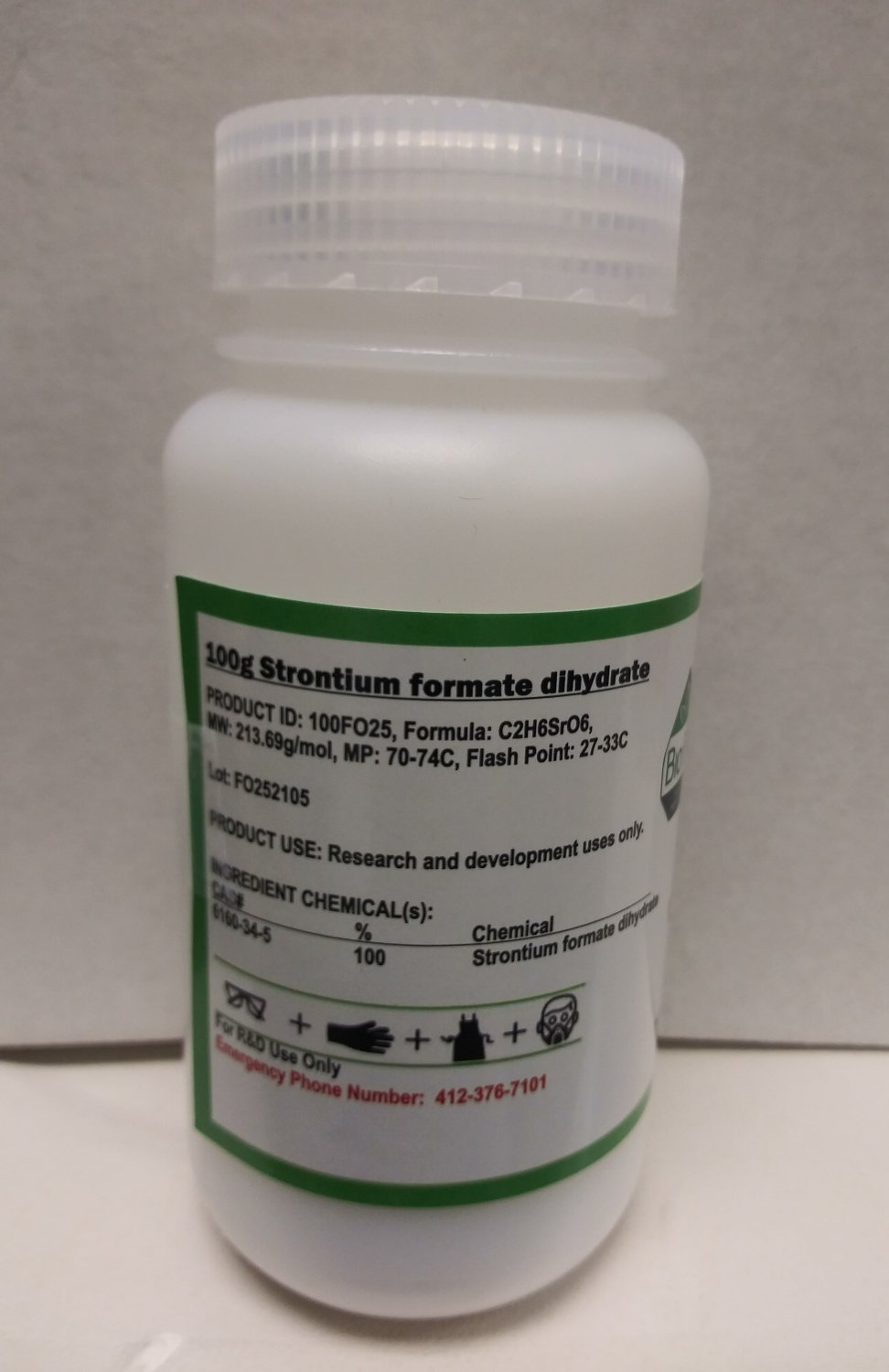 100g Strontium formate dihydrate