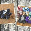 Black color Large Satin Scrunchie Ponytail Holder Handmade