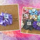 Lavender color Large Satin Scrunchie Ponytail Holder Handmade